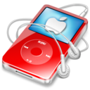 ipod video red apple icon