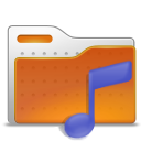 folder, music, sound icon
