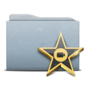 Folder Graphite Movies icon