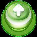 Button Green Arrow Up icon