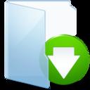 download,blue,descending icon