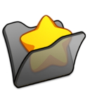 Folder black favourite icon