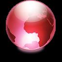 Sphere strawberry icon