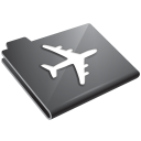 plane, grey, airplane icon