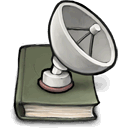 book, satelite icon
