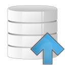 arrow, up, database icon