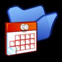 folder,blue,scheduled icon