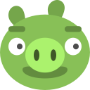 bad, ios, angry, birds, game, pig icon