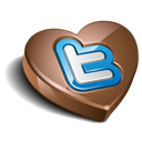 twitter, chokolate icon