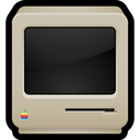 old, crt, computer, classic, macintosh icon