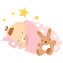Baby, Girl, Sleeping icon