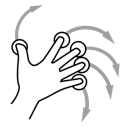 gestureworks, finger, rotate, five icon