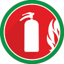 problem, fire, damage, burn, extinguisher, danger, flame icon