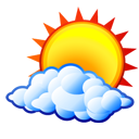 sun, cloud, weather icon