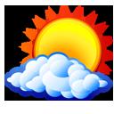 sun, cloud, weather icon