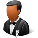 Bridegroom, Dark, Wedding icon