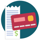 buy, purchase, receipt, credit card icon