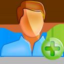 user, plus, male icon