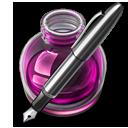 Pink Fire w silver pen 128 icon