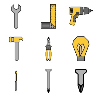 Tools icon sets preview