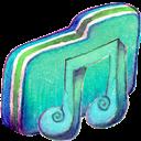 Alt, Folder, Green, Music icon