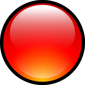 ball, aqua, red icon