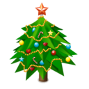 new,year,tree icon