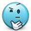 confused, smiley face, not sure, think, shrugging, smiley, emot, shrug icon