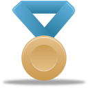 blue, bronze, metal icon