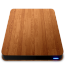 drive, external, slick, wooden icon