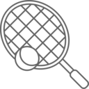 Tennis Racket ball icon