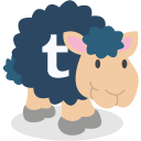 tumblr, sheep, social network icon