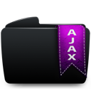 Ajax, Black, Folder icon