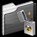 Burnable Folder black icon