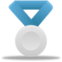 silver, metal, blue icon