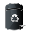 Dock, Empty, Recycle icon