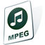 video, paper, mpg, mpeg, file, document icon