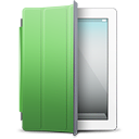 white, ipad, green, cover icon