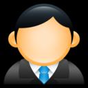 user,executive,blue icon