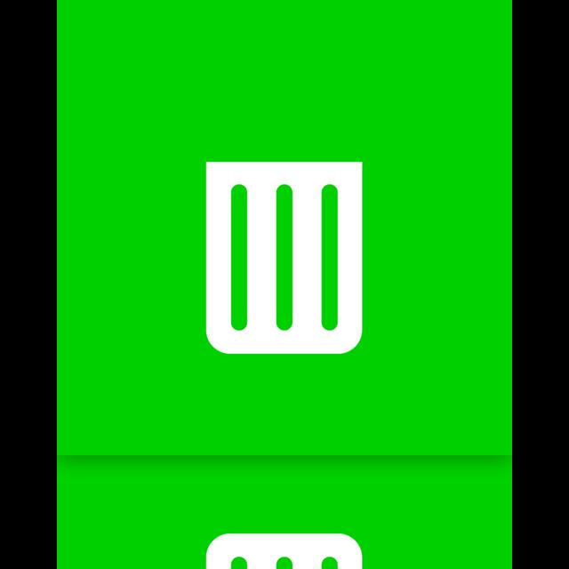 recycle, empty, bin, mirror icon
