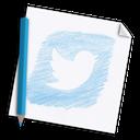 network, hand-drawn, media, color pencil, colour pencil, hand drawn, bird, pencil, twitter, social, paper, page icon