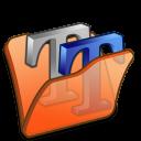 folder orange font2 icon