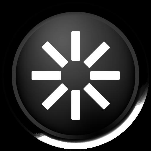 black, reboot icon
