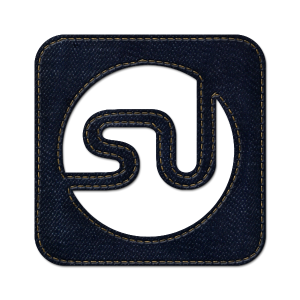 jean, logo, square, stumbleupon, social, denim icon