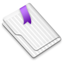 Favorites Flag Purple icon