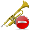 Delete, Trumpet icon