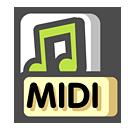 sequence, midi icon