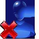 user, delete icon