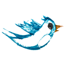follow, twitter, bird, animal icon