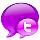 twitter, in, logo, pink icon